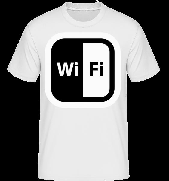 WiFi Icon Black/White - T-Shirt Shirtinator homme - Blanc - Vorn