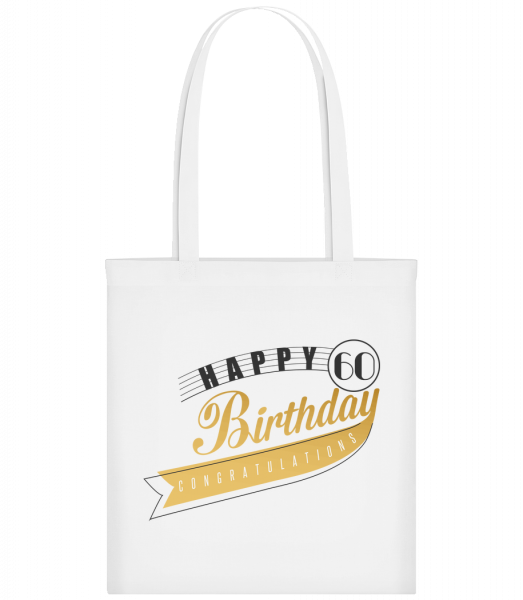 Happy 60 Birthday - Sac tote - Blanc - Vorn