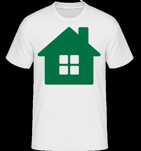 House Icon Green - T-Shirt Shirtinator homme - Blanc - Vorn