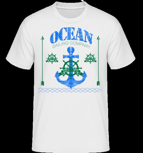 Sailing Company Sign - T-Shirt Shirtinator homme - Blanc - Vorn
