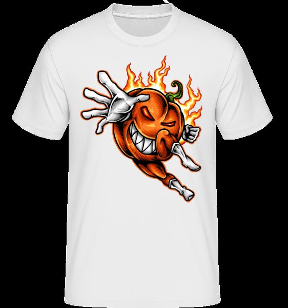 Citrouille Brûlante - T-Shirt Shirtinator homme - Blanc - Vorn