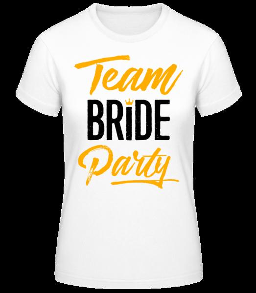 Team Bride Party - Basic T-Shirt - Blanc - Vorn