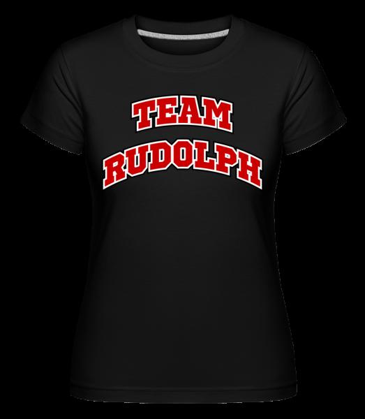 Team Rudolph - T-shirt Shirtinator femme - Noir - Vorn