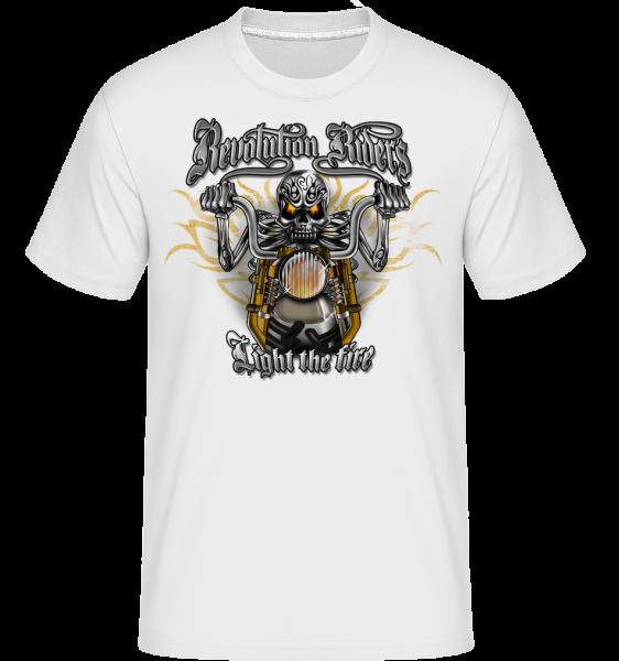 Revolution Riders - T-Shirt Shirtinator homme - Blanc - Vorn