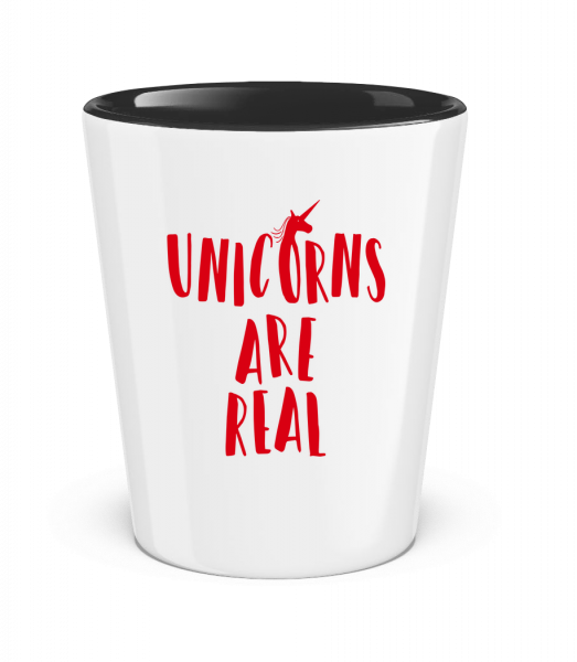 Unicorns Are Real - Verre à shoot bicolore - Blanc - Vorn