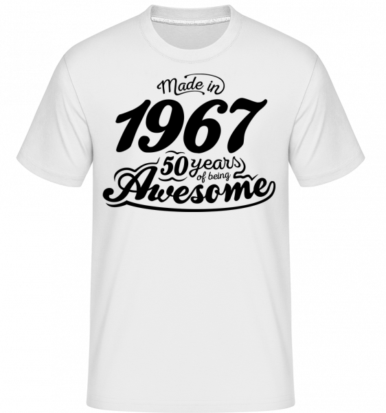 Made In 1967 - T-Shirt Shirtinator homme - Blanc - Vorn