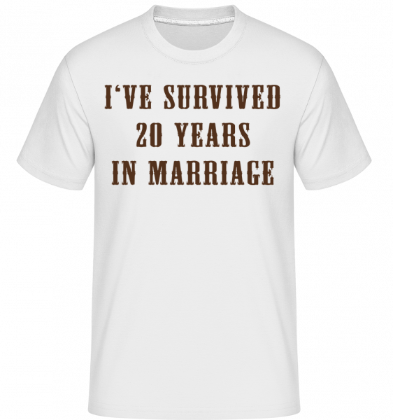 I've Survived 20 Years In Marria - T-Shirt Shirtinator homme - Blanc - Vorn