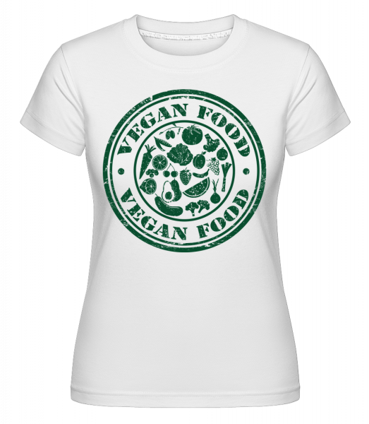 Vegan Food Sign - T-shirt Shirtinator femme - Blanc - Vorn