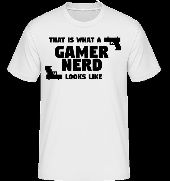 A Gamer Nerd Looks Like - T-Shirt Shirtinator homme - Blanc - Vorn