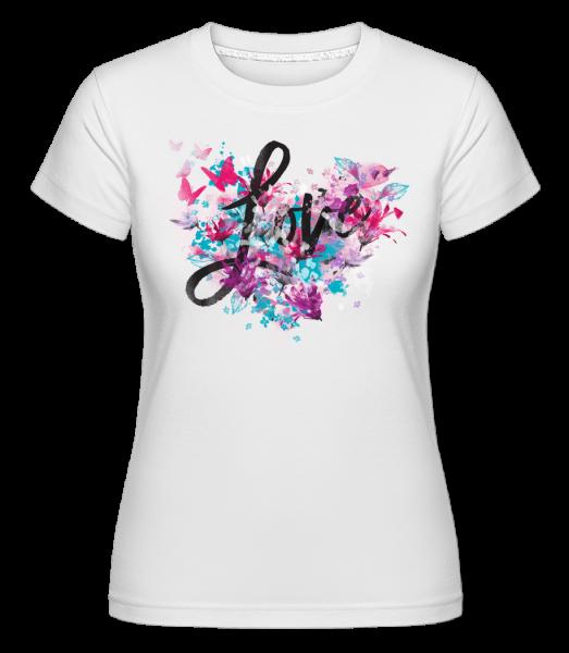 Love - T-shirt Shirtinator femme - Blanc - Vorn