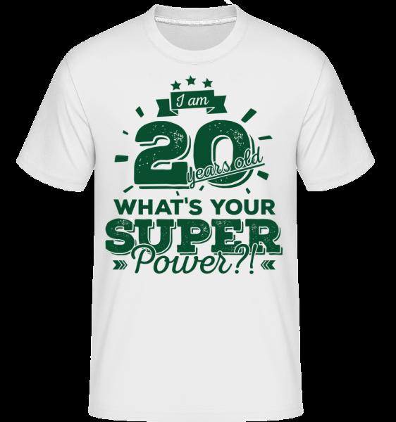20 Years Super Power - T-Shirt Shirtinator homme - Blanc - Vorn