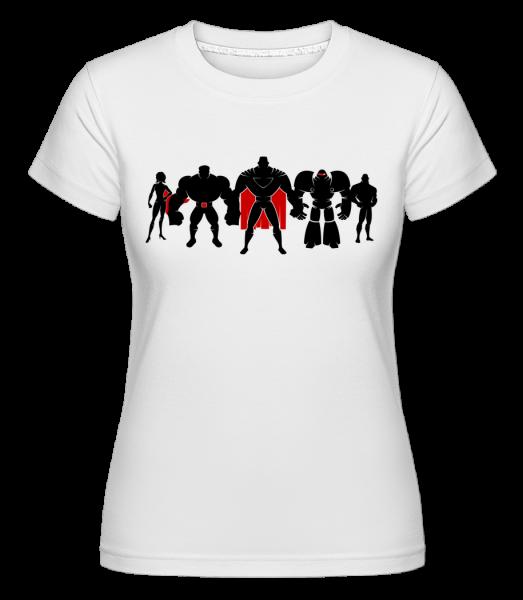 Superman League - T-shirt Shirtinator femme - Blanc - Vorn