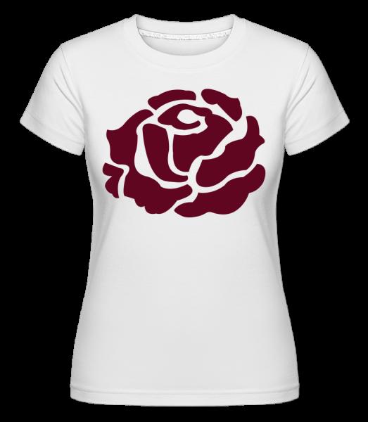 Red Rose -  T-shirt Shirtinator femme - Blanc - Vorn