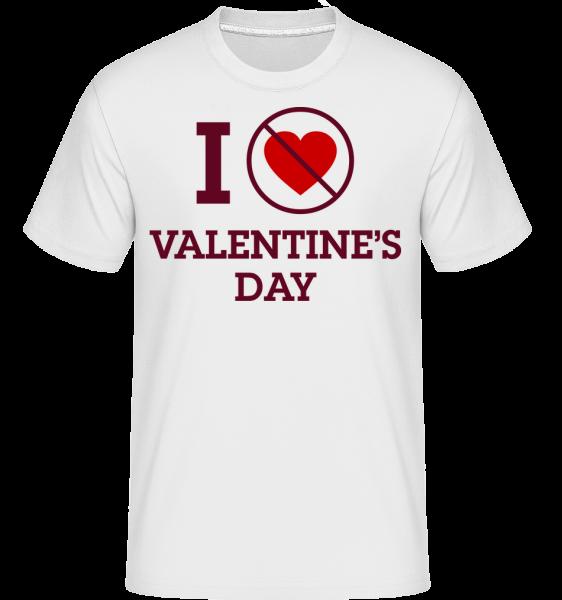 I Do Not Love Valentine's Day - T-Shirt Shirtinator homme - Blanc - Vorn