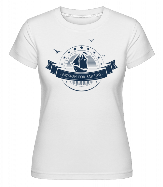 Passion For Sailing Logo - T-shirt Shirtinator femme - Blanc - Vorn