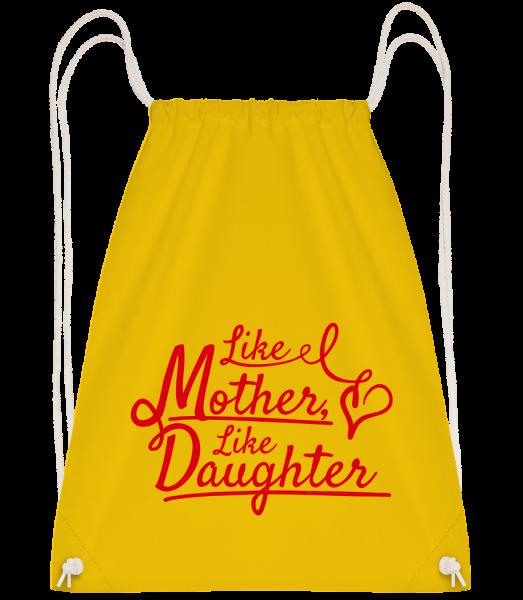 Like Mother Like Daughter - Sac à dos Drawstring - Jaune - Vorn