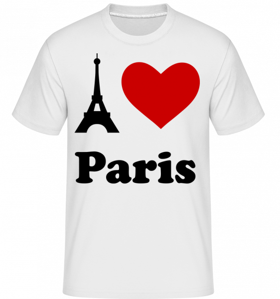 I Love Paris - T-Shirt Shirtinator homme - Blanc - Vorn