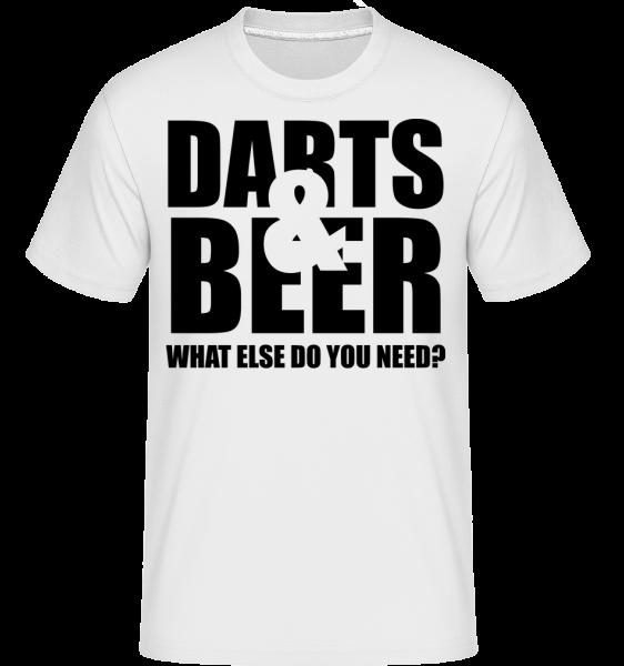 Darts And Beer - T-Shirt Shirtinator homme - Blanc - Vorn