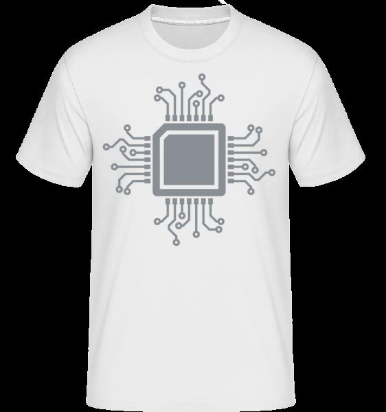 CPU Chip - T-Shirt Shirtinator homme - Blanc - Vorn