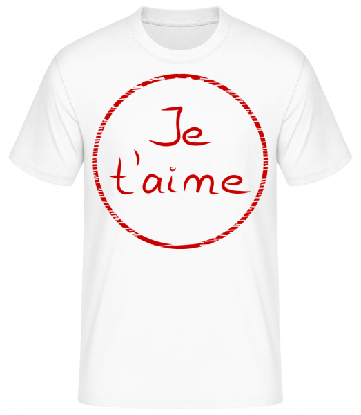 Je T'Aime - T-shirt standard homme - Blanc - Vorn