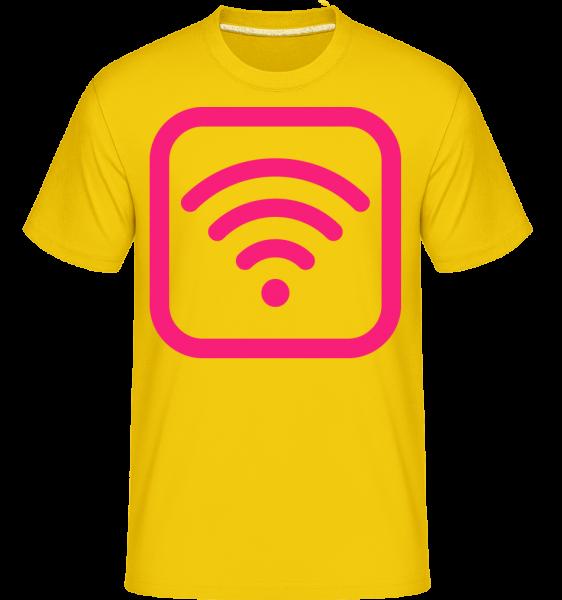 Wlan Icon Pink -  T-Shirt Shirtinator homme - Jaune doré - Vorn