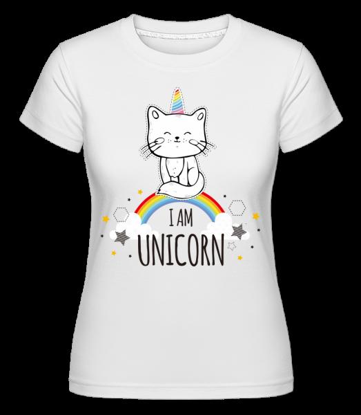I Am Unicorn - T-shirt Shirtinator femme - Blanc - Vorn
