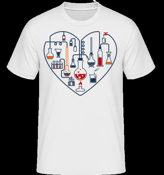 Amour Des Sciences - T-Shirt Shirtinator homme - Blanc - Vorn