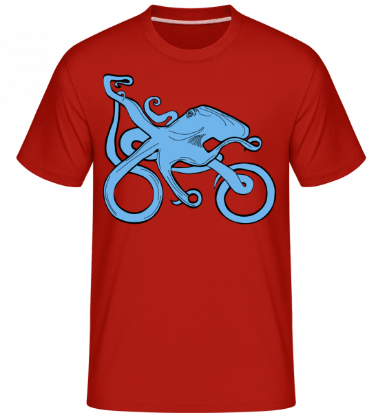 Motorcycle Octopus -  T-Shirt Shirtinator homme - Rouge - Vorn