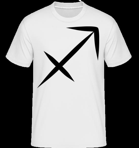 Signe Du Sagittaire - T-Shirt Shirtinator homme - Blanc - Vorn