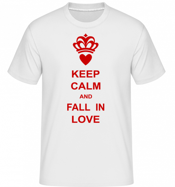 Keep Calm And Fall In Love - T-Shirt Shirtinator homme - Blanc - Vorn