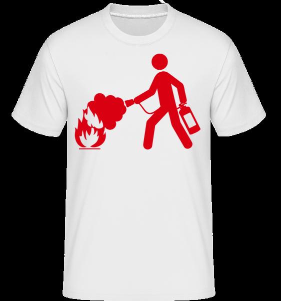 Firefighter Sign - T-Shirt Shirtinator homme - Blanc - Vorn