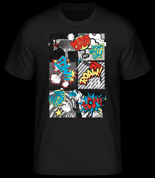 Animaux Bande Dessinée - T-shirt standard homme - Noir - Vorn