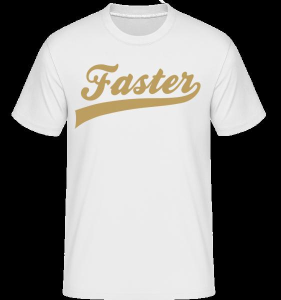 Faster Mot Écrit - T-Shirt Shirtinator homme - Blanc - Vorn