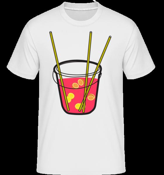 Sangria - T-Shirt Shirtinator homme - Blanc - Vorn