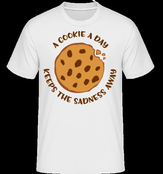 A Cookie A Day -  T-Shirt Shirtinator homme - Blanc - Vorn