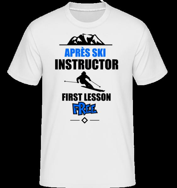 Après Ski Instructor - T-Shirt Shirtinator homme - Blanc - Vorn