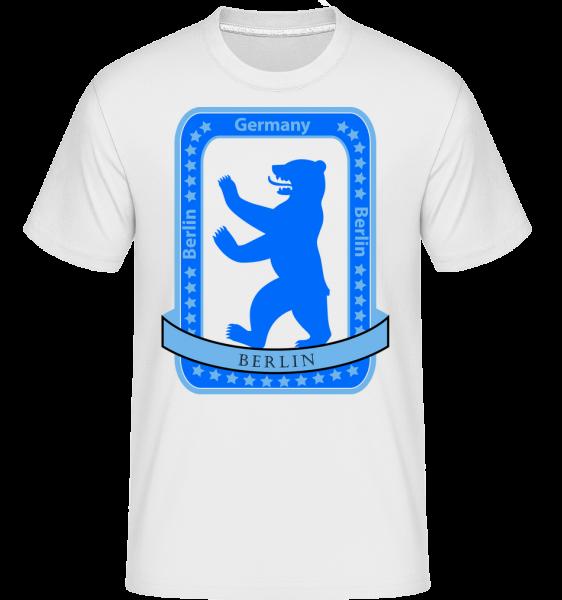 Berlin Bear Icon - T-Shirt Shirtinator homme - Blanc - Vorn