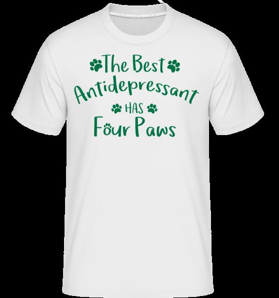 The Best Antidepressant - T-Shirt Shirtinator homme - Blanc - Vorn