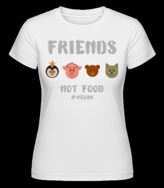 Friends Not Food - T-shirt Shirtinator femme - Blanc - Vorn