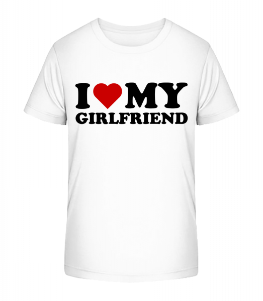 I Love My Girlfriend - T-shirt bio Premium Enfant - 12-14 ans - Vorn