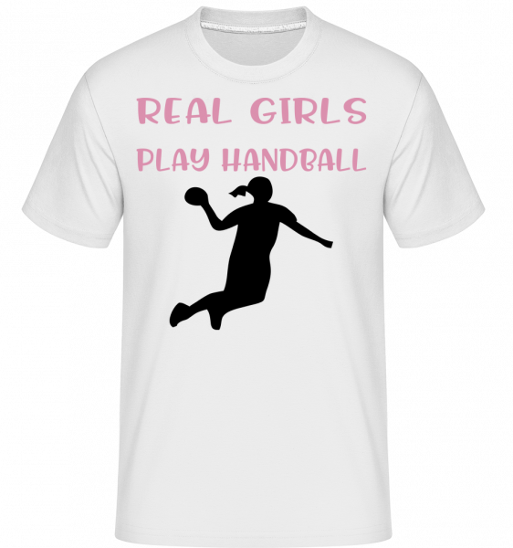 Real Girls Play Handball - T-Shirt Shirtinator homme - Blanc - Vorn