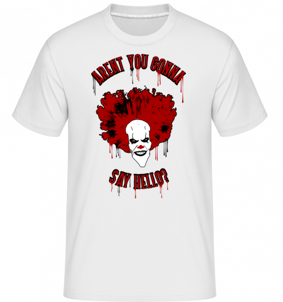 Aren't You Gonna Say Hello? - T-Shirt Shirtinator homme - Blanc - Vorn