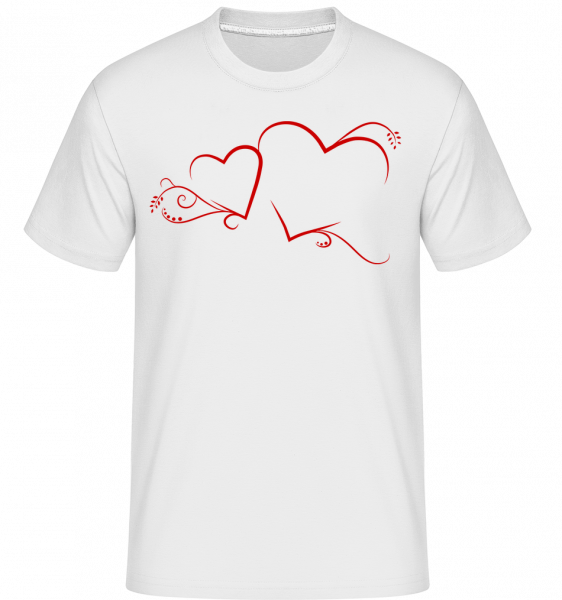 Cœurs - T-Shirt Shirtinator homme - Blanc - Vorn