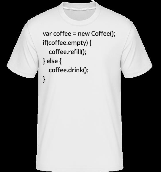 PHP Coffee - T-Shirt Shirtinator homme - Blanc - Vorn