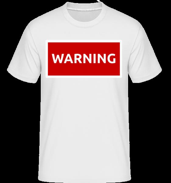 Warning Sign Red - T-Shirt Shirtinator homme - Blanc - Vorn