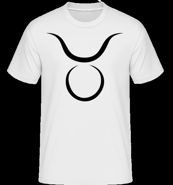Signe du Taureau - T-Shirt Shirtinator homme - Blanc - Vorn