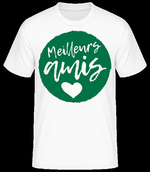 Meilleurs Amis - T-shirt standard homme - Blanc - Vorn