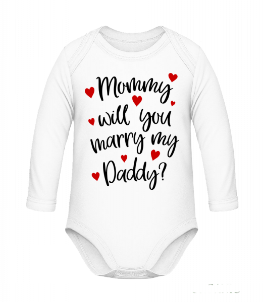 Mommy Will You Marry Daddy? - Body bébé coton bio - Blanc - Vorn