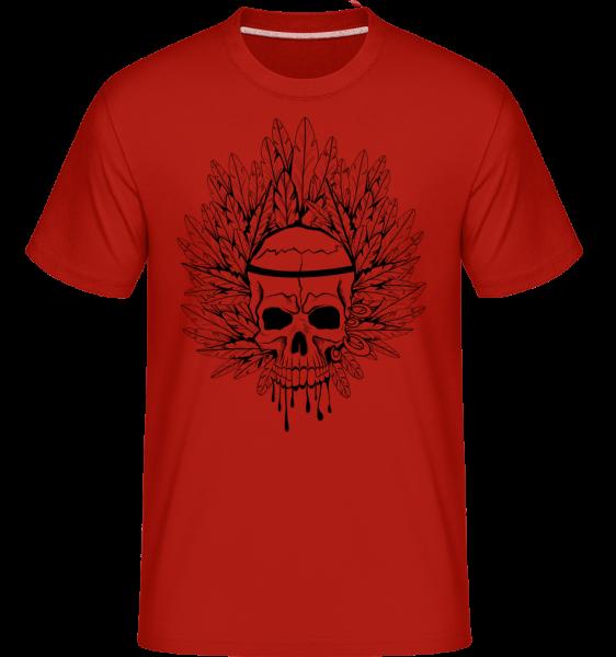 Crâne Indien De Tatouage - T-Shirt Shirtinator homme - Rouge - Vorn