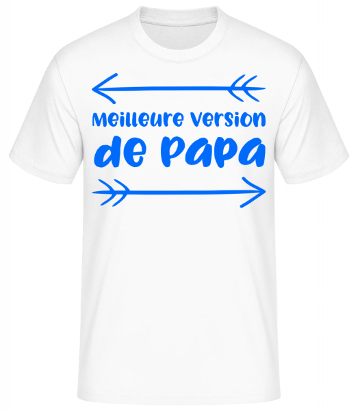 Meilleure Version De Papa - T-shirt standard homme - Blanc - Vorn